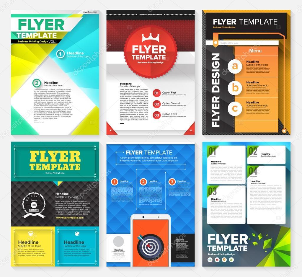 Set of Flyer, Brochure Design Templates