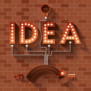 word Idea with balls light