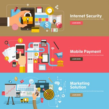 Flat design concepts for Internet Security