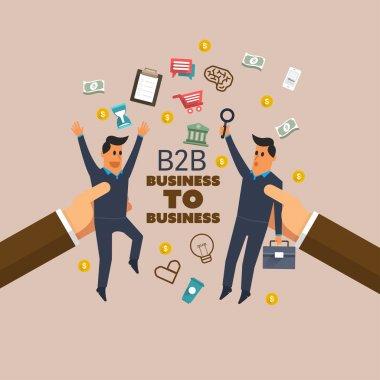 Finance concept: B2B