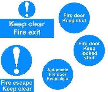 Fire door signs collage