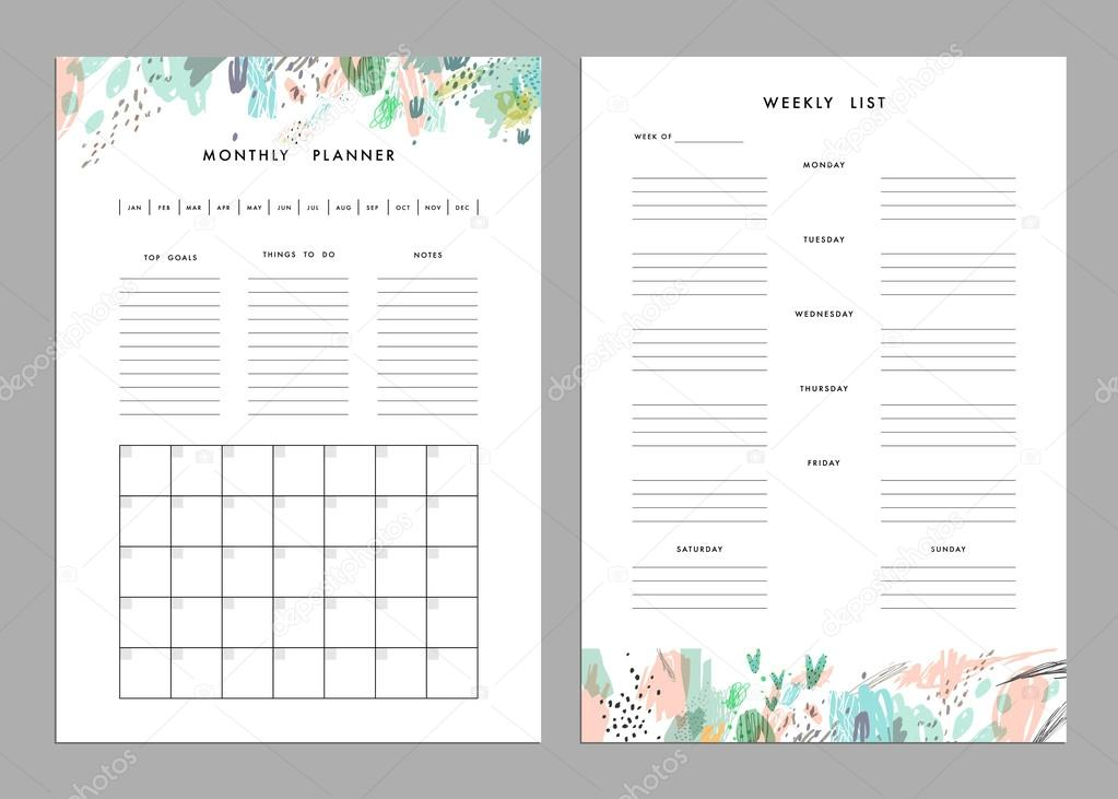 monthly to do list template