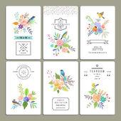 Květinová kolekce romantické pozvánky