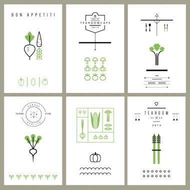 Collection of cards with Vegetables