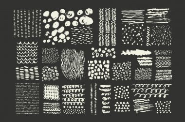 Hand Drawn textures made with ink