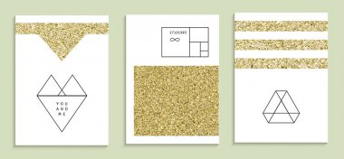 Set of trendy invitations