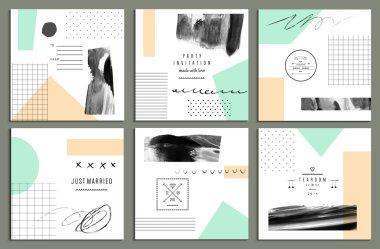 Wedding, birthday party invitations set