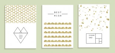 Set of wedding, party invitations