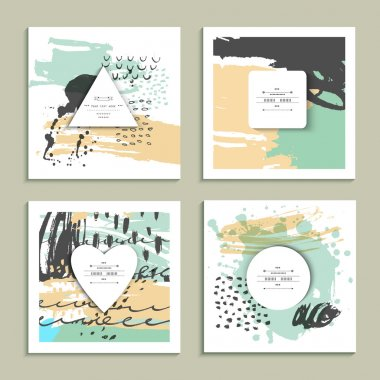 Artistic paper backgrounds collection