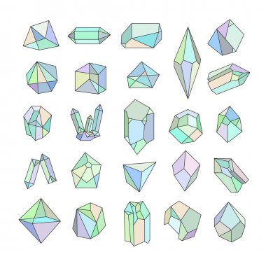 hipster retro backgrounds with crystals