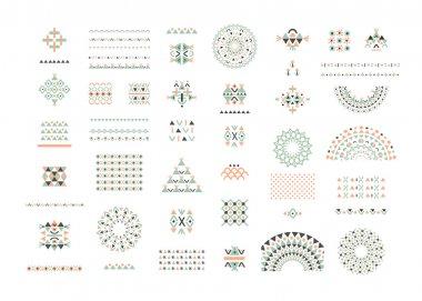 Ethnic patterns, decor elements