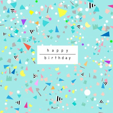 Birthday background with confetti.