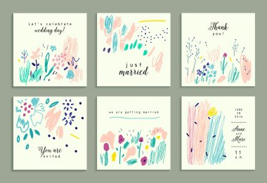 Set of creative gentle cards.