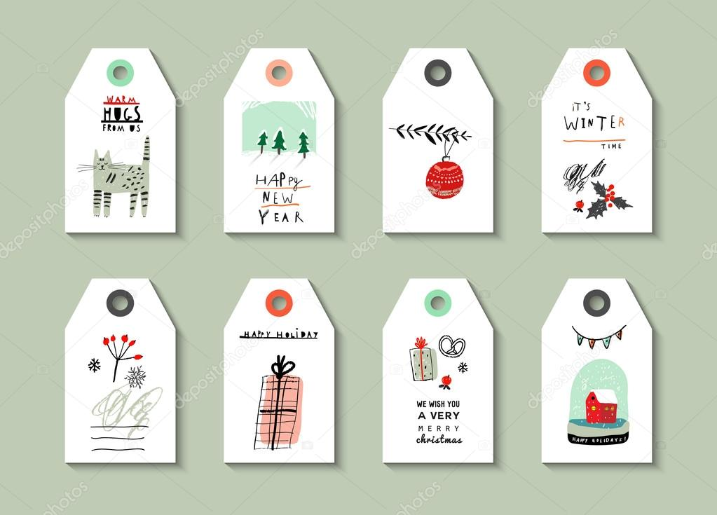 Collection of gift tags cute decorative hand drawn set collection of gift tags cute decorative hand drawn set negle Choice Image