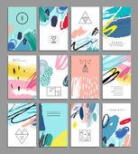 Művészi kreatív univerzális kártya.