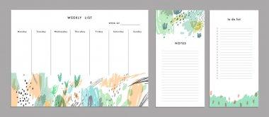 Weekly Planner Template. Organizer