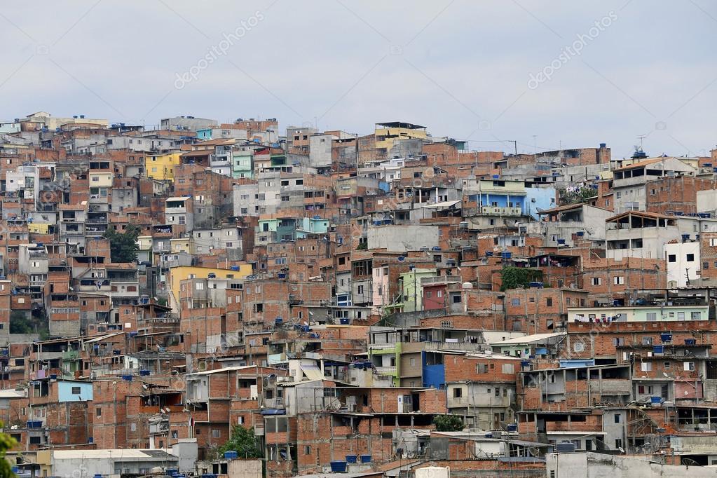 slum, neighborhood of sao paulo, brazil — Stock Photo
