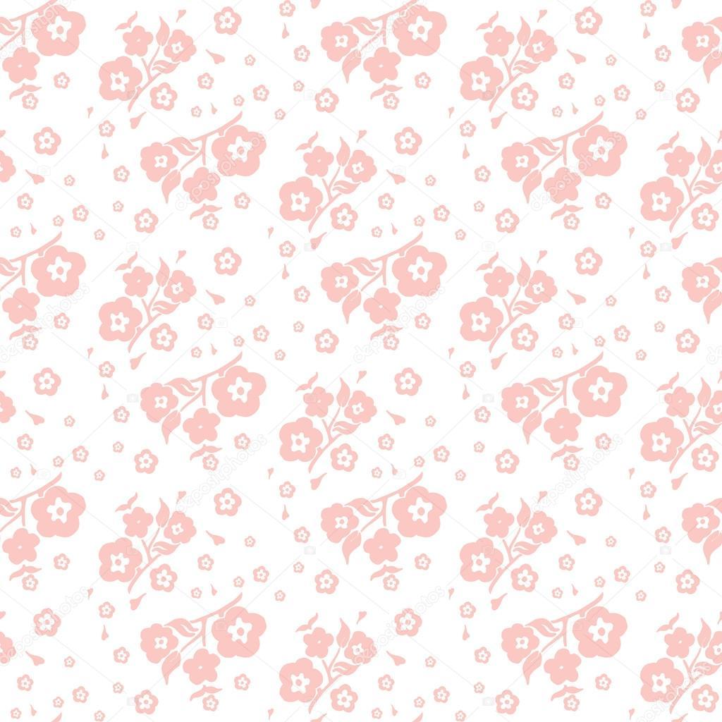 Fondo Blanco Con Flores Melocotón En Un Patrón Transparente Fondo