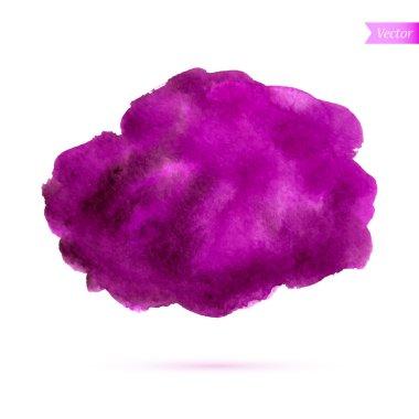 Abstract watercolor splash red-violet tones. Watercolor drop. Vector illustration clip art vector
