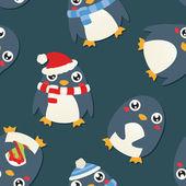 Fényképek Karácsonyi pingvin minta