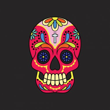 Colorful Mexican Sugar Skull