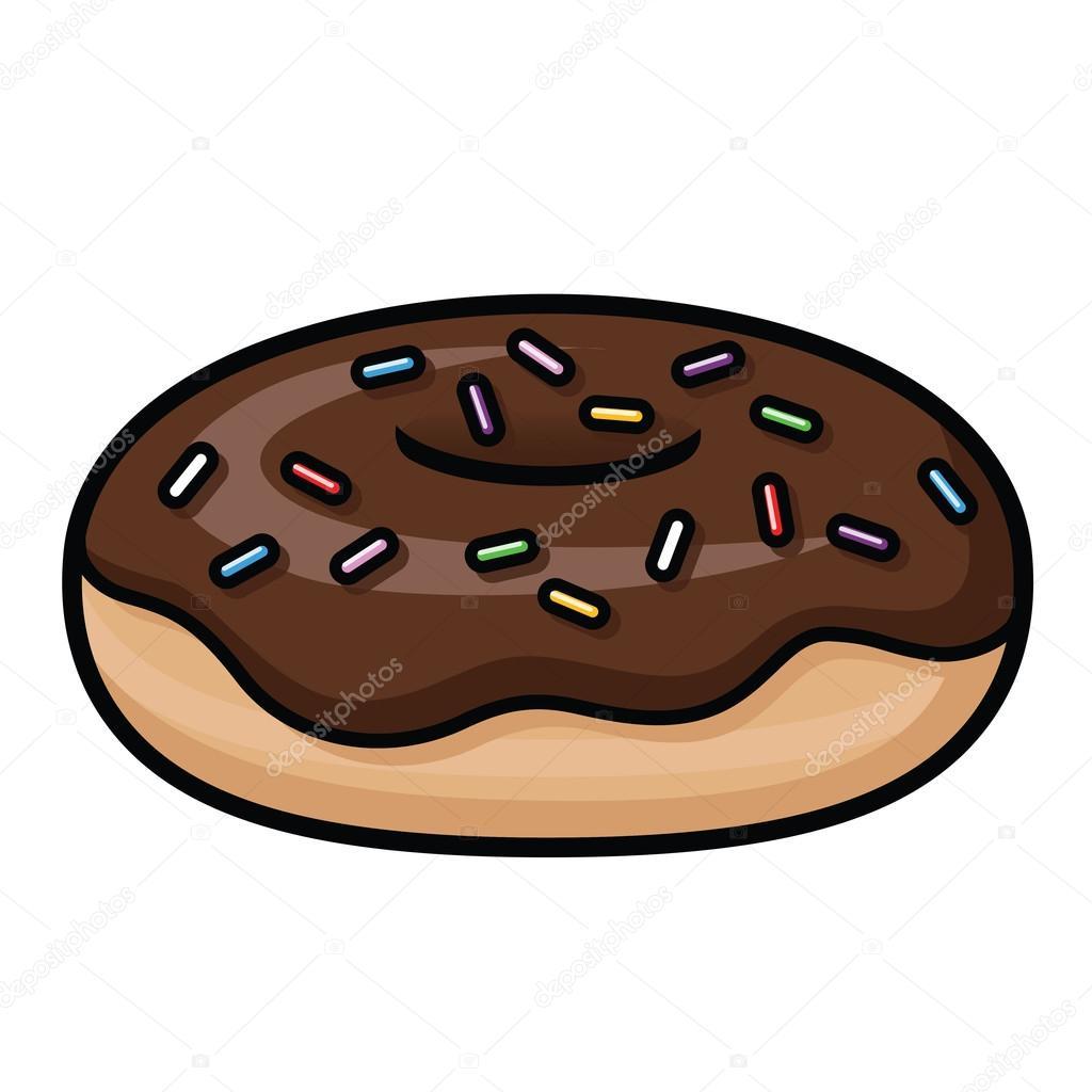 Chocolate Sprinkle Donut Stock Vector C Avelkrieg 96355866