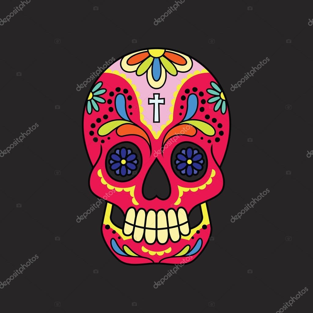 Dibujos Colores De Calaveras Calavera De Azúcar Mexicana Colores