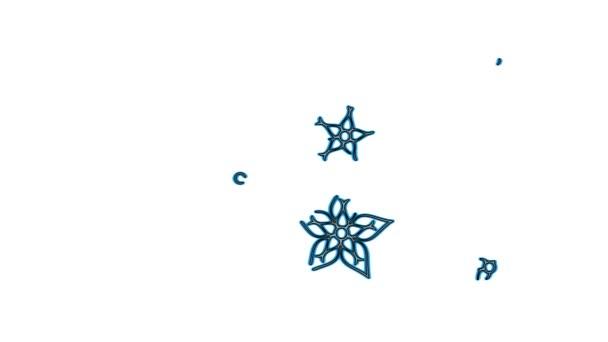 Barevné kovové květiny animace - modrá