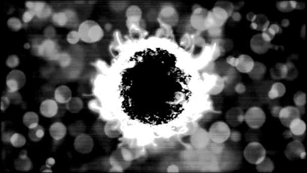 Absztrakt fekete-fehér, forgó gömb animáció - Loop