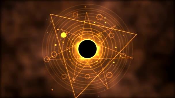 Magic circle, Geometric Background Animation - Loop Golden