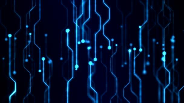 abstract technology circuit background animation loop blue stock rh depositphotos com