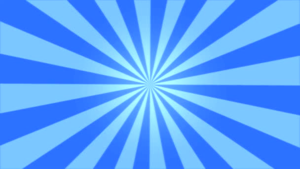 Rotating Stripes Background Animation - Loop Blue