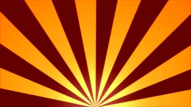 Rotující pruhy na pozadí animace - smyčka červená žlutá