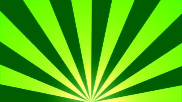 Rotující pruhy pozadí animace - zelená smyčka