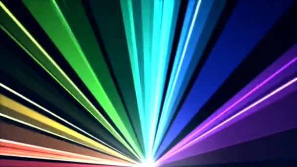 Animation rotierender Lichtstrahlen - Schleife Regenbogen