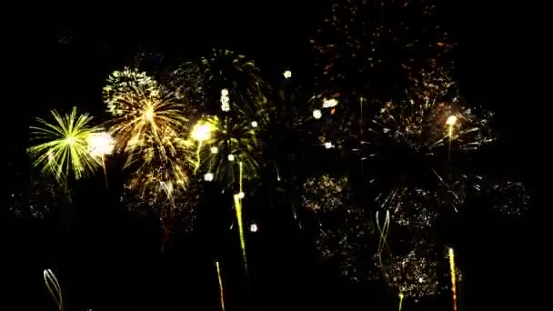 Firework Show Animation - Loop Yellow