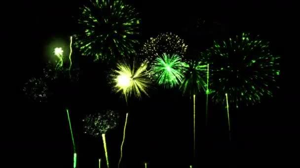 Firework Show Animation - Loop Green