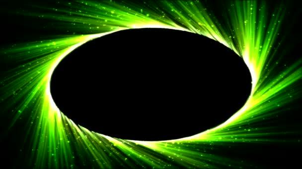 Fényes, ovális, könnyű Ray animáció - zöld hurok