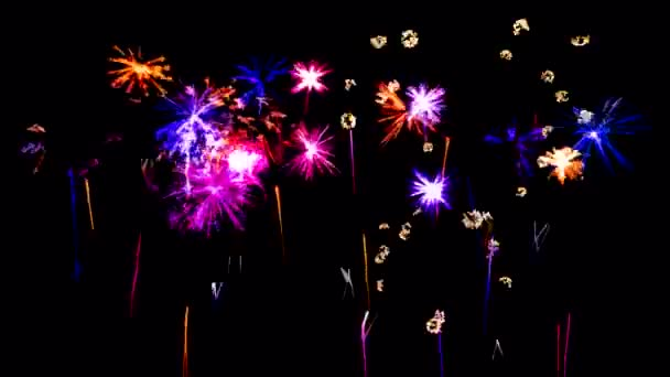 Abstract Firework Show Sketch Animation - Loop