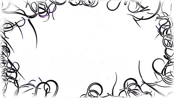 Fekete szőlő határ háttérben animáció - Loop