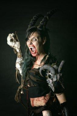 scary sorceress woman