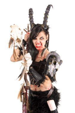 Faun sorceress woman