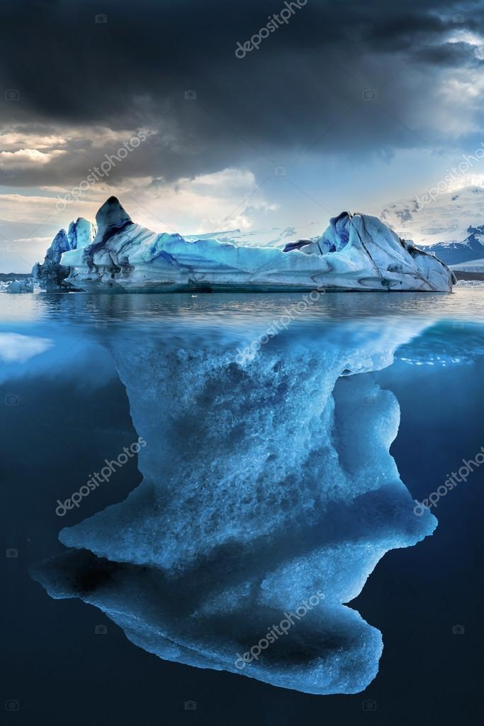 Big iceberg undewater