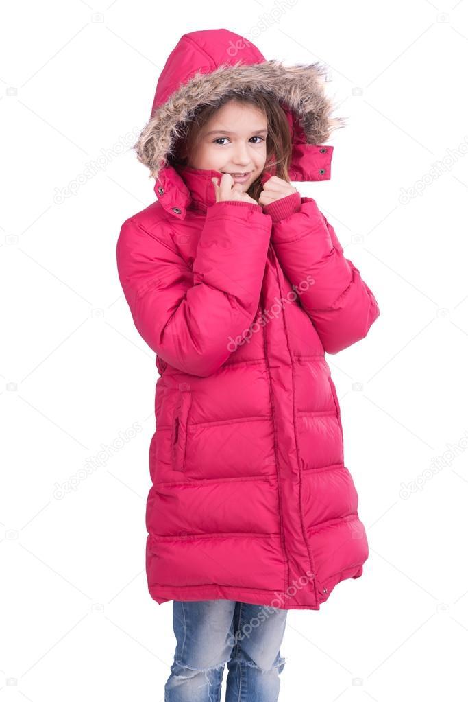 Winterjas Kind.Kind Poseren In Winterjas Stockfoto C Luislouro 70373013