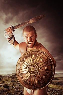 Gladiator warrior ready for battle
