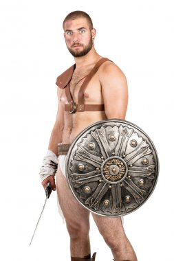 Gladiator man with weapon