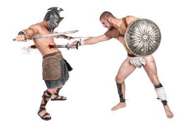 two gladiators, warriors