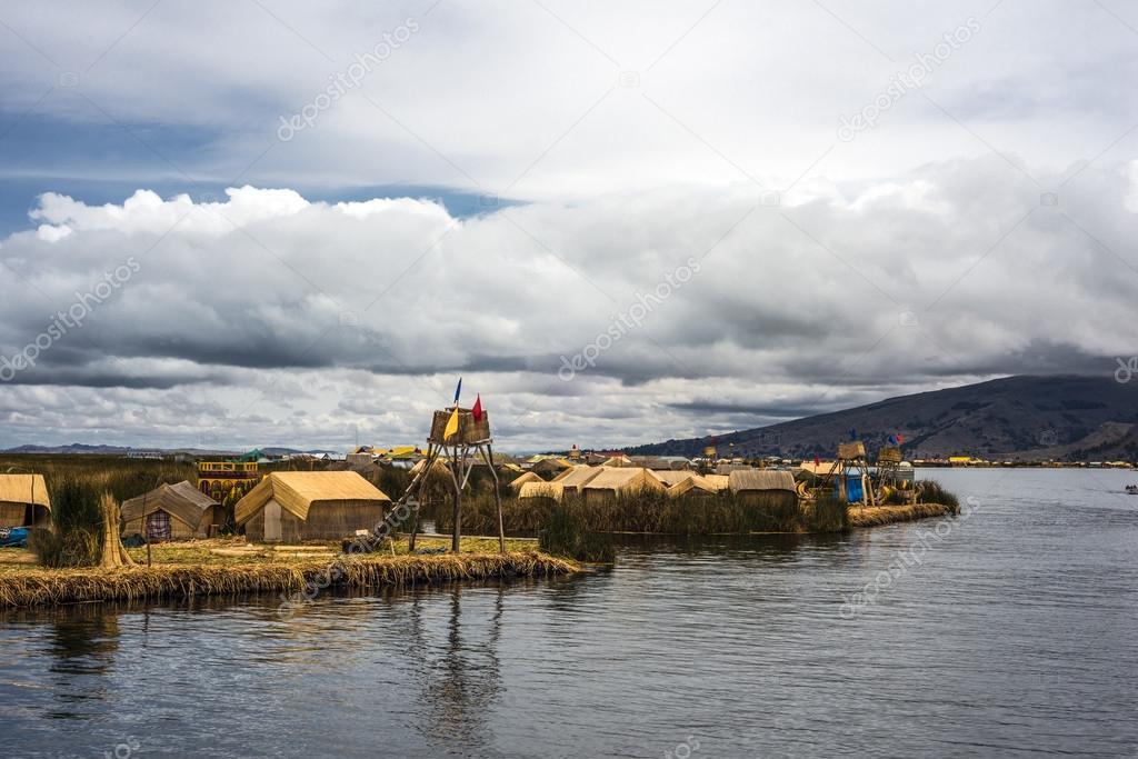 Floating Islands on the Lake Titicaca, Puno, Peru