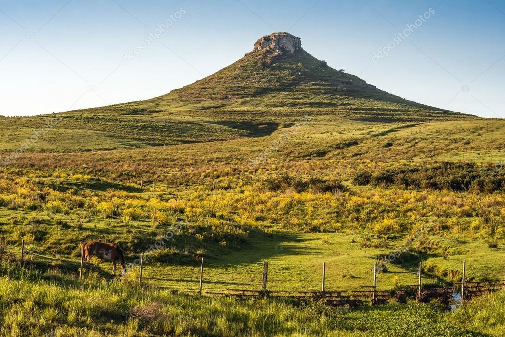 Idyllic landscape of Batovi Hill, Tacuarembo in Uruguay