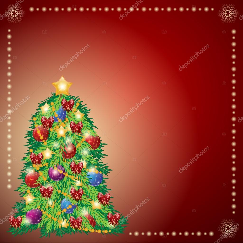 beautiful xmas tree for merry christmas celebration. — stock vector